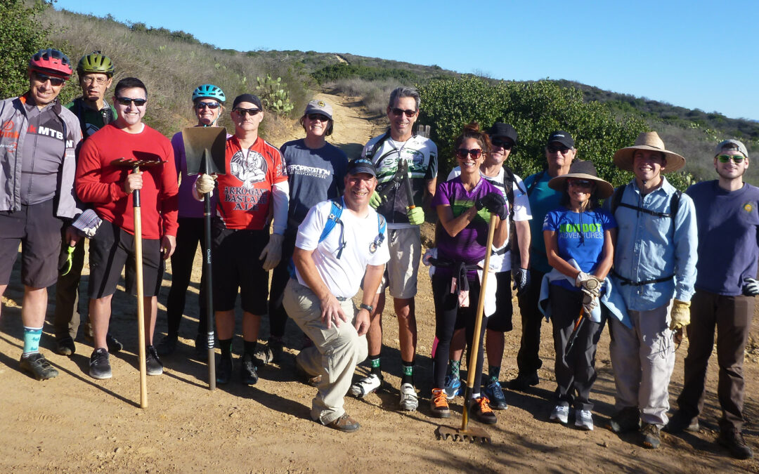 Another great trail work day in Crystal Cove!