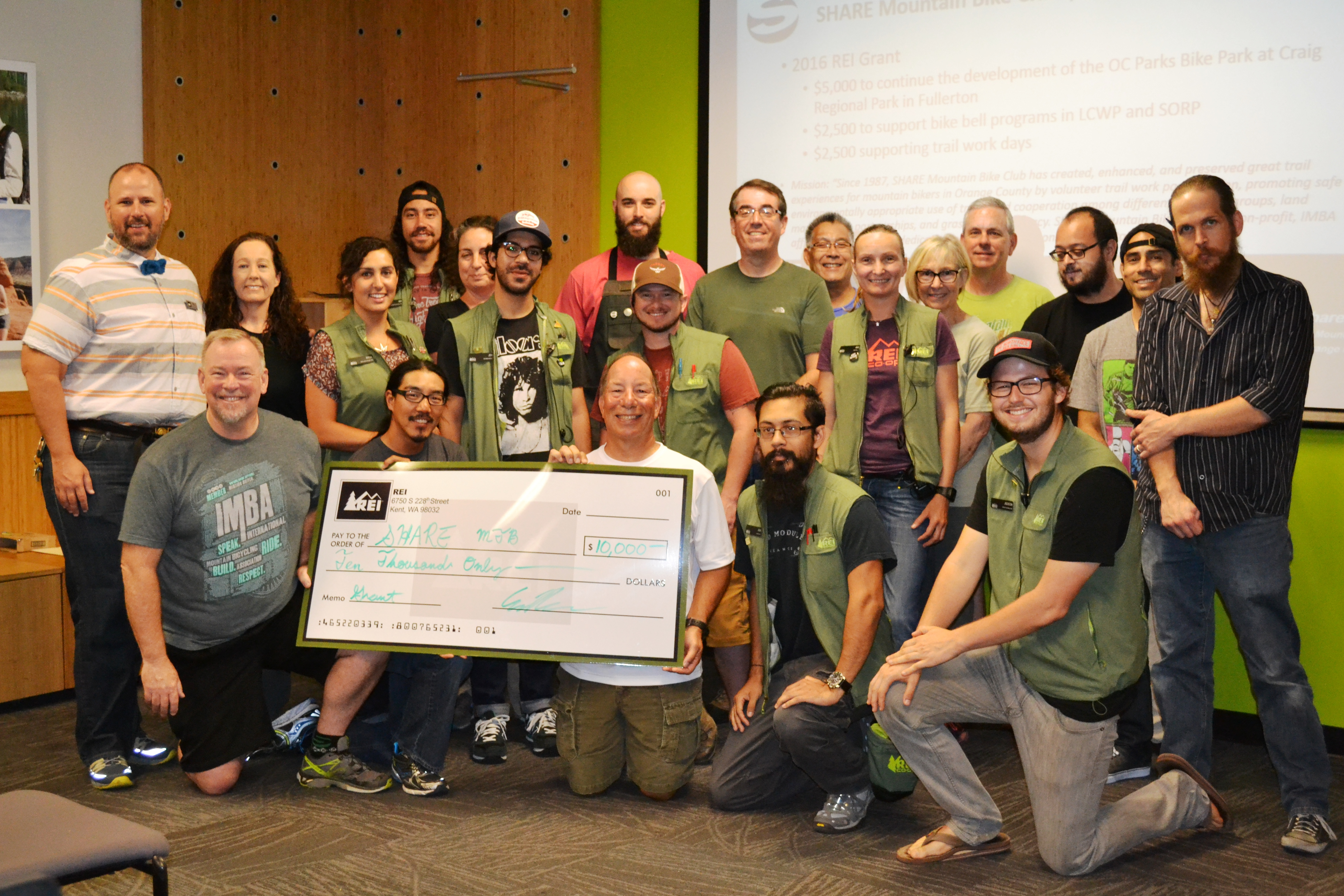 Thank you REI! $10,000 to SHARE and OC Parks